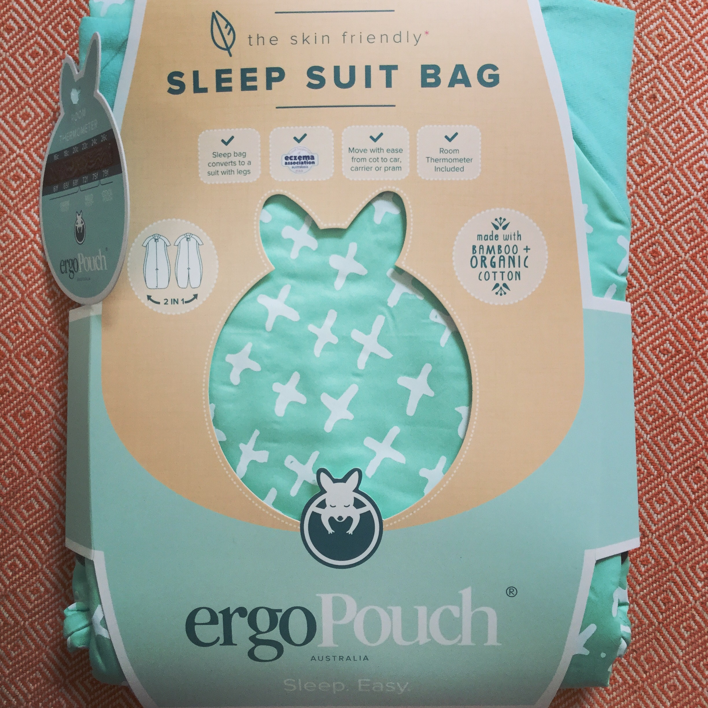 Ergopouch the 2-in-1 Sleepsuit and Bag - Organic, Aussie Baby Sleepsuit. Bamboo and cotton summer tog suit reviewed by Frankie and the Lamb