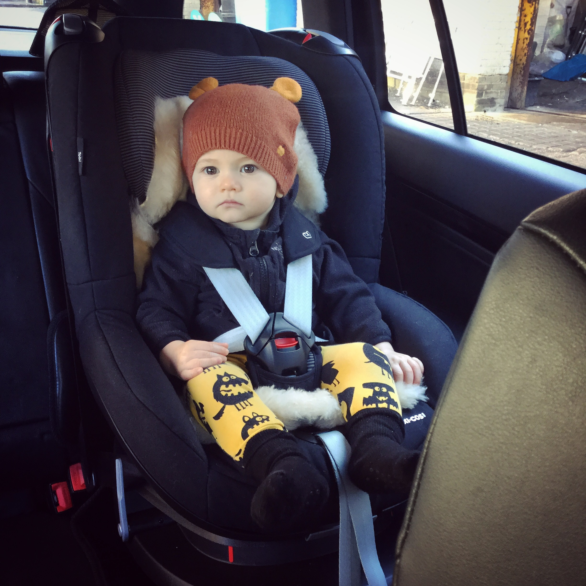 Maxi Cosi Tobi - Seat Belt Installed Toddler Car Seat - From approximately 9 months to 4 years old - reviewed by Frankie and the Lamb with a car sick baby!